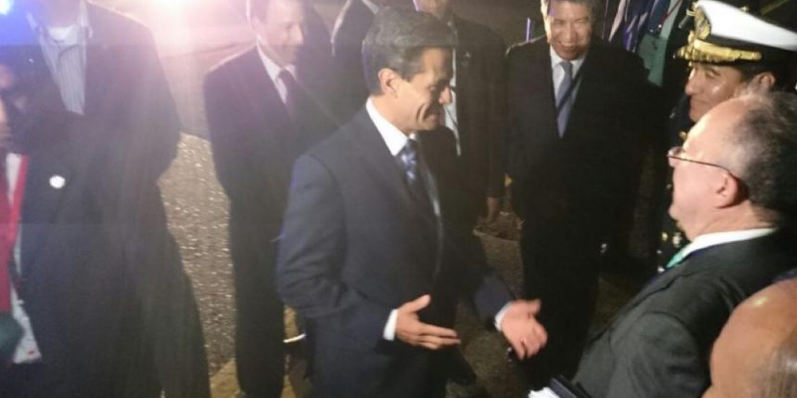 El presidente mexicano, Enrique Peñanieto, llega a Panamá Foto:vía twitter @CumbrePanama