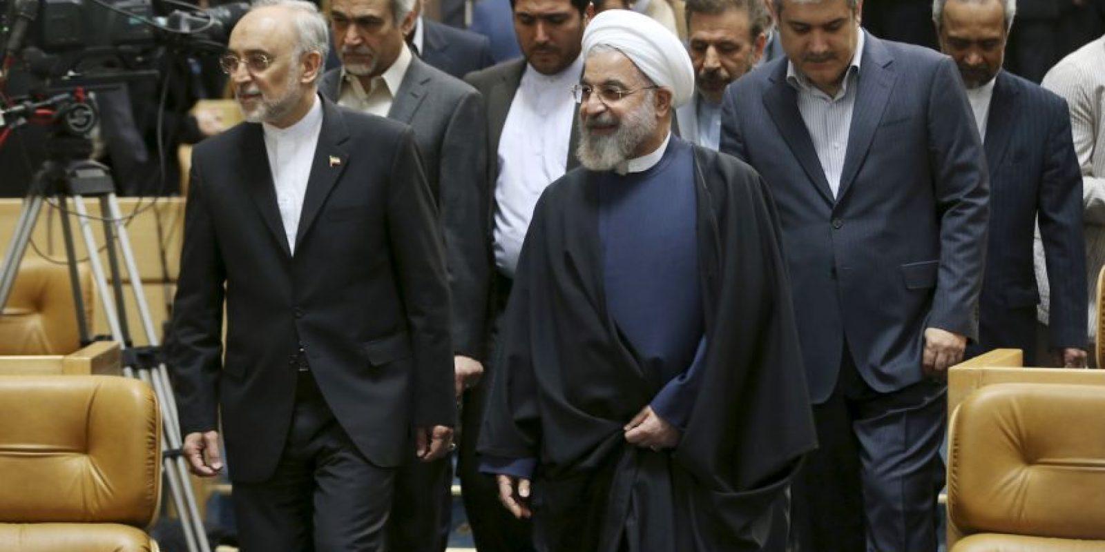 Hassan Rouhan asiste a una ceremonia para conmemorar el Día Nacional de la Tecnología Nuclear Foto:AP