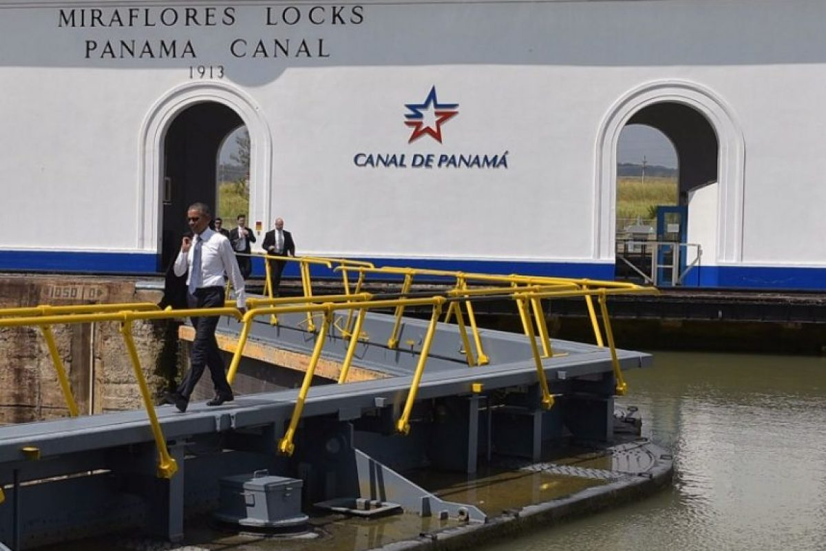 Recorrió el Canal de Panamá Foto:AFP