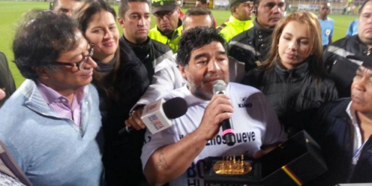 Se ve muy mal a Maradona en el