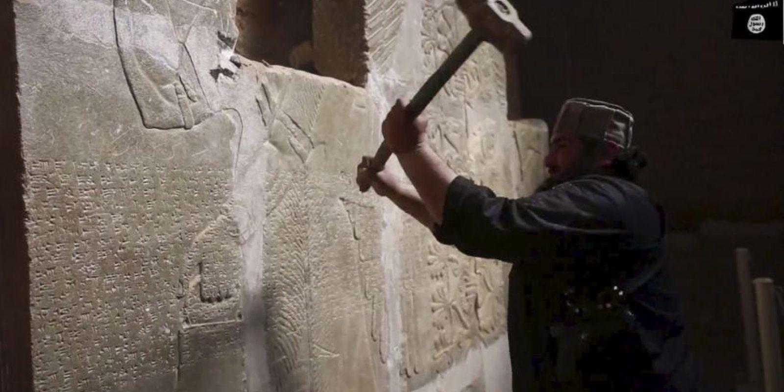 Usaron explosivos para destruir por completo Nimrud. Foto:AP