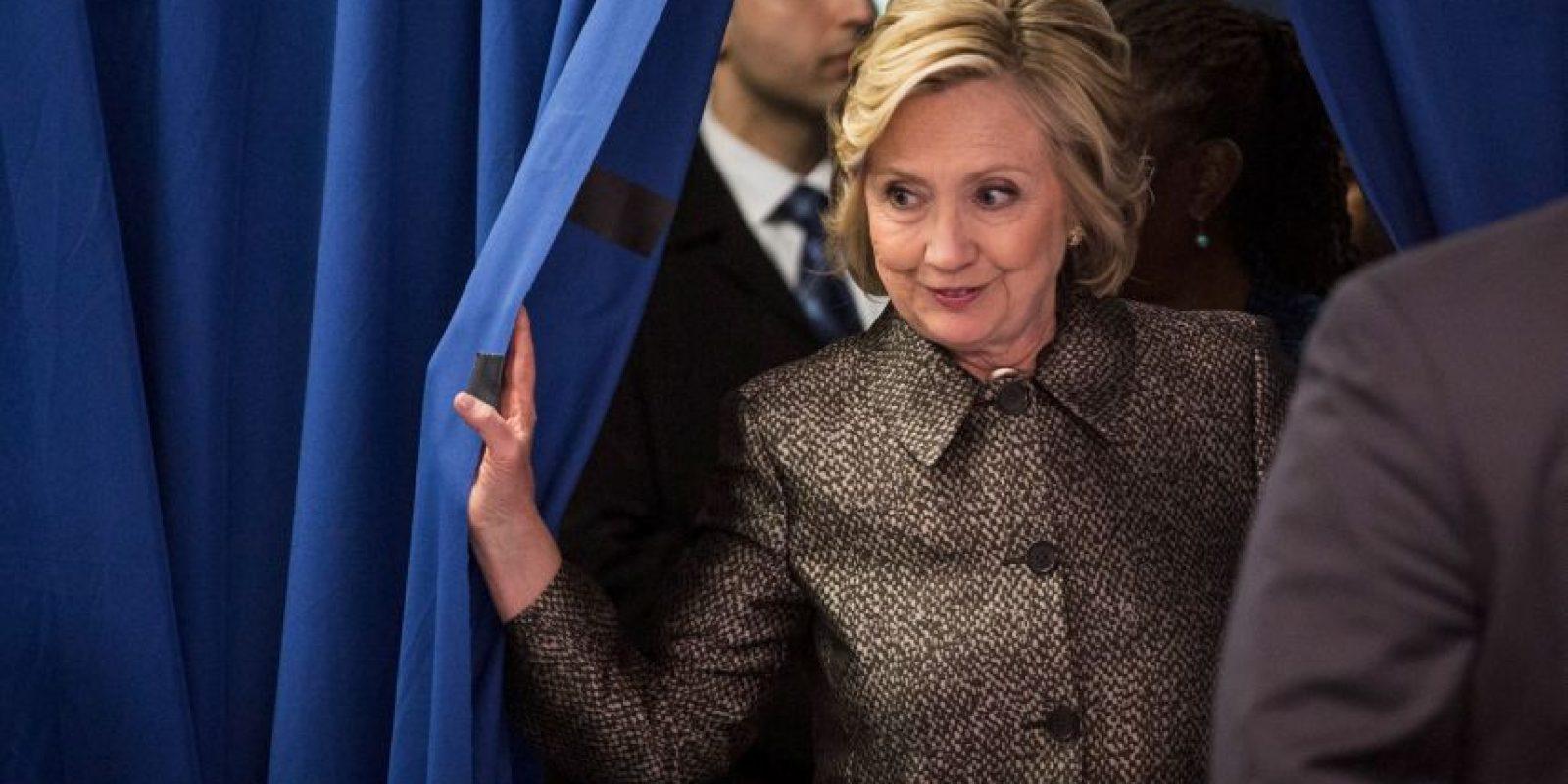 Fue la primera candidata demócrata y es la favorita para ganar la designación de candidata Foto:Getty Images