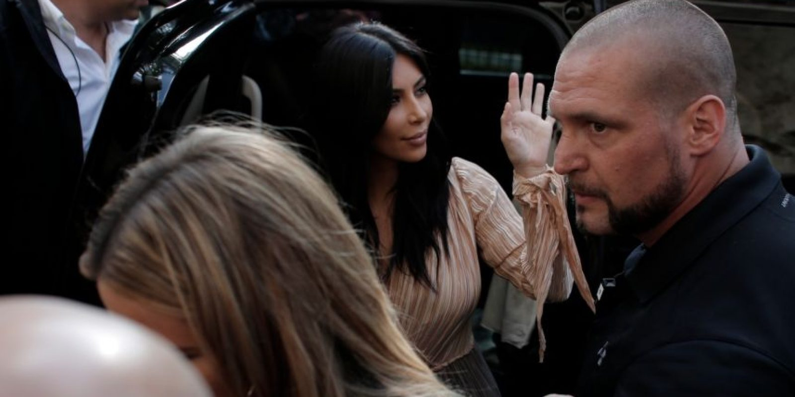 La familia West-Kardashian llegó a Israel para celebrar el bautizo de North West Foto:AFP