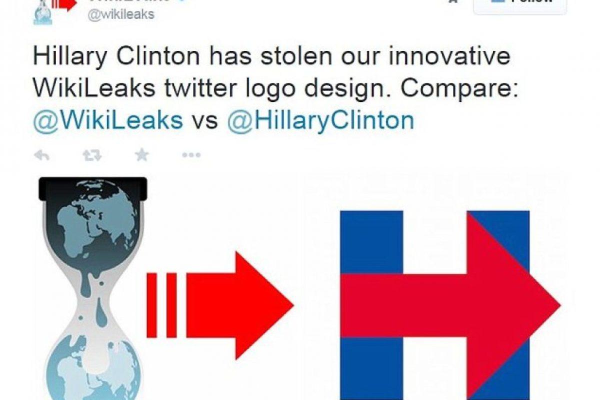 Wikileaks aseguró que la exprimera dama les robó su logotipo Foto:Twitter.com/Wikileaks
