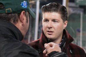 Corey Griffin, creador del Ice Bucket Challenge. Foto:Vía twitter.com/HockeyPhotos