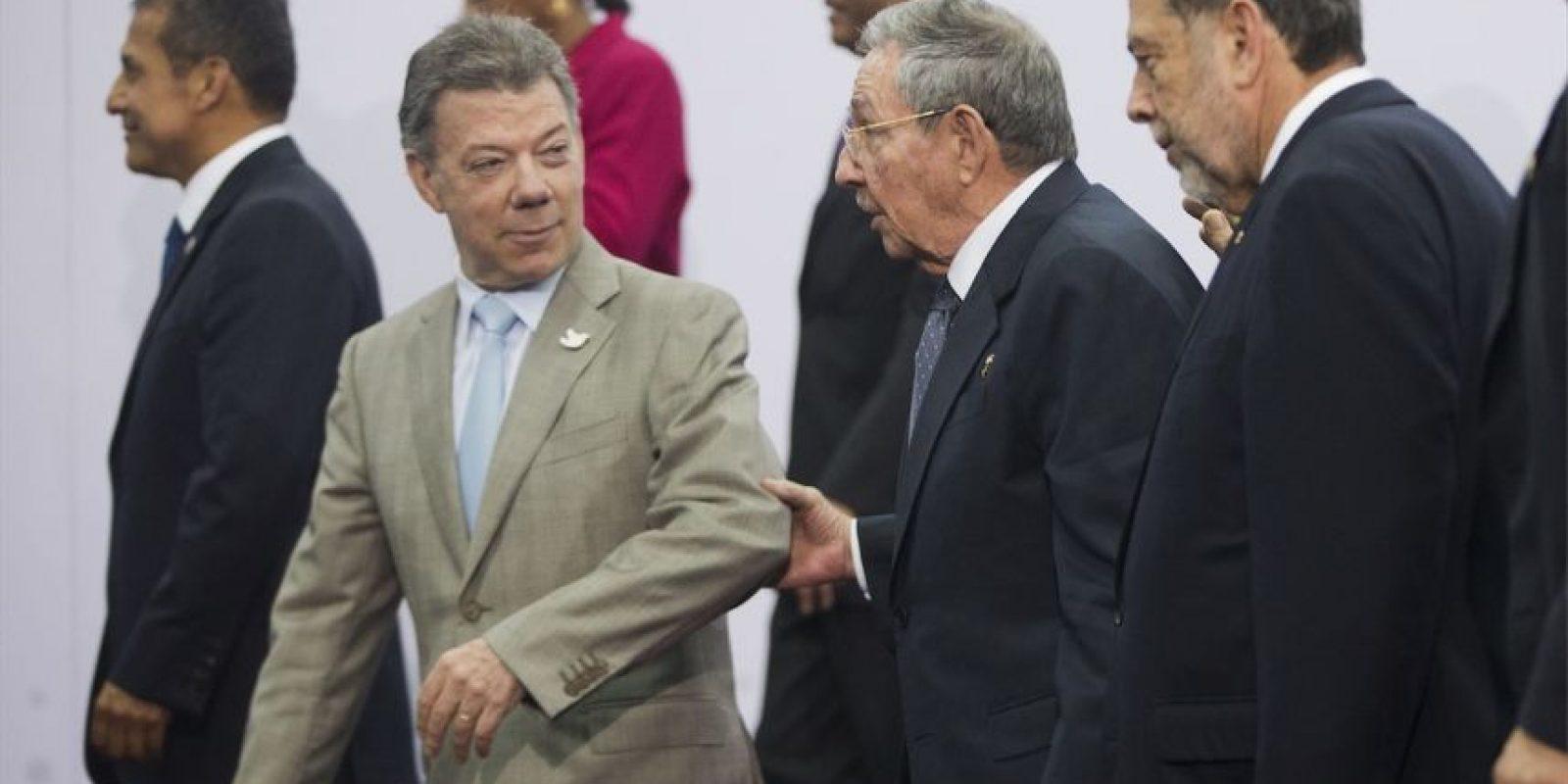 Y también fue la primera ocasión en que un mandatario cubano asiste a una de las reuniones más importantes de América Latina Foto:AP