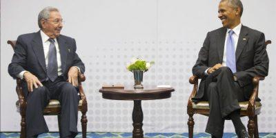 Fue la primera vez, en más de 50 años, que se reunieron dos mantararios de ambos países Foto:AP
