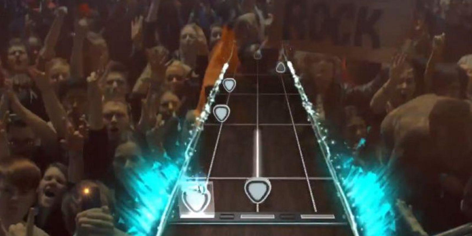 Así lucirá el videojuego. Foto:GuitarHeroGames