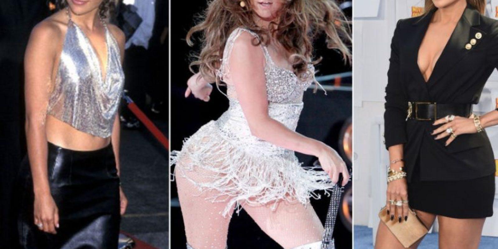 JLo comenzó como la chica del Bronx para luego encarnar la ostentación latina y refinar su estilo. Foto:vía Getty Images