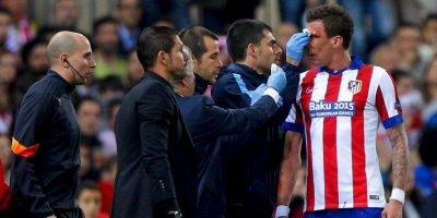 El segundo, un puñetazo de Carvajal que envió a Mandzukic al césped. Foto:Getty Images