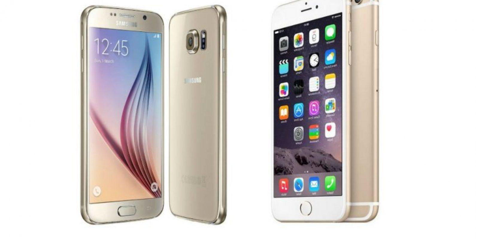 Es más costoso el Samsung Galaxy S6 que el iPhone 6. Foto:Samsung / Apple