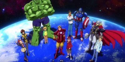 """Hay una serie de Toei de """"Los Vengadores"""" en la que cada niño protagonista (a la usanza de la animación japonesa) lleva el """"espíritu"""" de cada uno de Los Vengadores. Su villano es un caricaturesco Loki. Foto:vía Toei"""