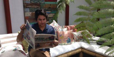 Al final de la entrevista, Jorge Villamizar se dispuso a leer PUBLIMETRO Foto:PUBLIMETRO