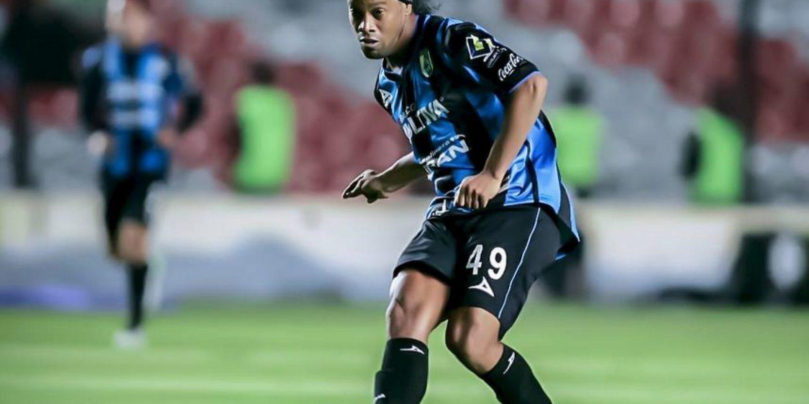 Solo ha marcado tres anotaciones desde que llegó a México Foto:Vía facebook.com/RonaldinhoOficial