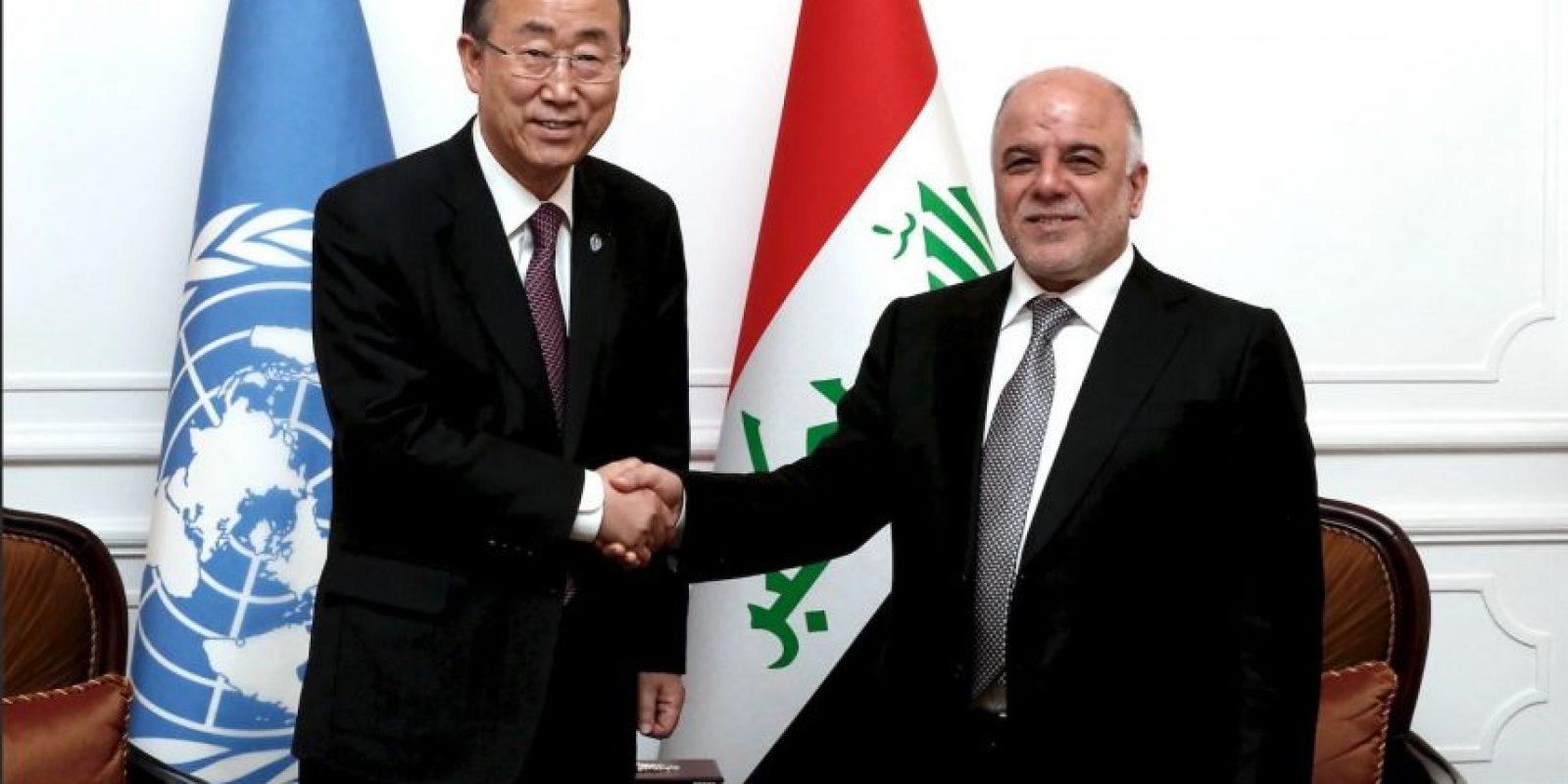 """""""En solamente siete meses al-Abadi ha colocado un gobierno genuino, puso orden en el Congreso y se ha comprometido a luchar contra ISIS para crear una Irak más unida"""". Foto:Getty Images"""