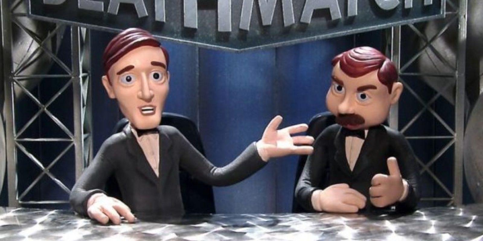 """¿Quieren que """"Celebrity Deathmatch """" vuelva? Aquí están sus mejores peleas. Foto:vía MTV"""
