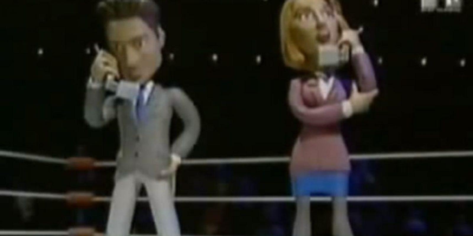 Siguen hablando por celular, hasta que Tommy Lee Jones se ensaña con David Duchovny. Foto:vía MTV