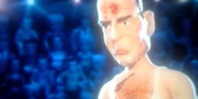 Bruce Willis pelea contra Ashton Kutcher. Foto:vía MTV