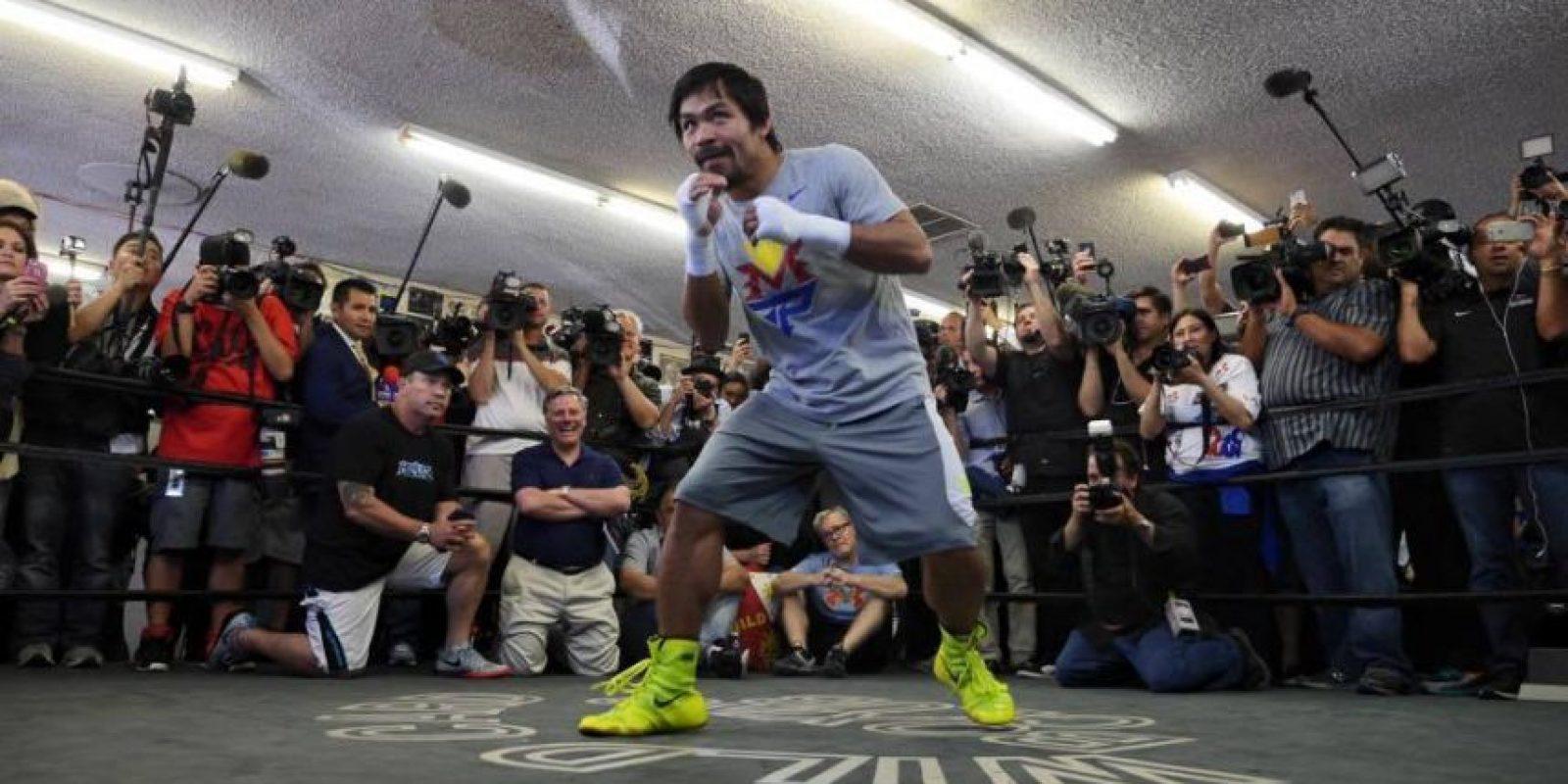 """Tras la pelea, """"Pacman"""" se llevará el 40% de las ganancias, mientras que para """"Money"""" serán el 60%. Foto:Vía facebook.com/MannyPacquiao"""
