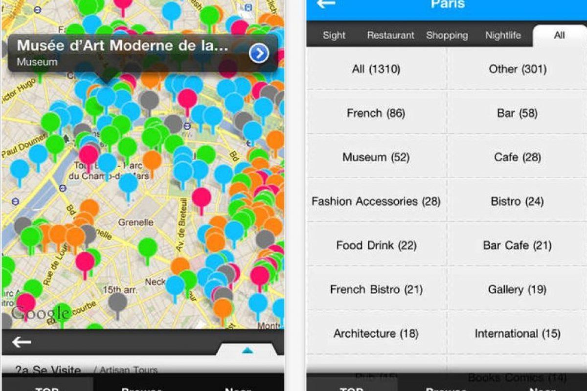 World Travelpedia: toda la información que necesitan los viajantes se encuentra en esta app. Restaurantes, tiendas, parques, museos y otros lugares de más de 300 países. Foto:Parkour Lab