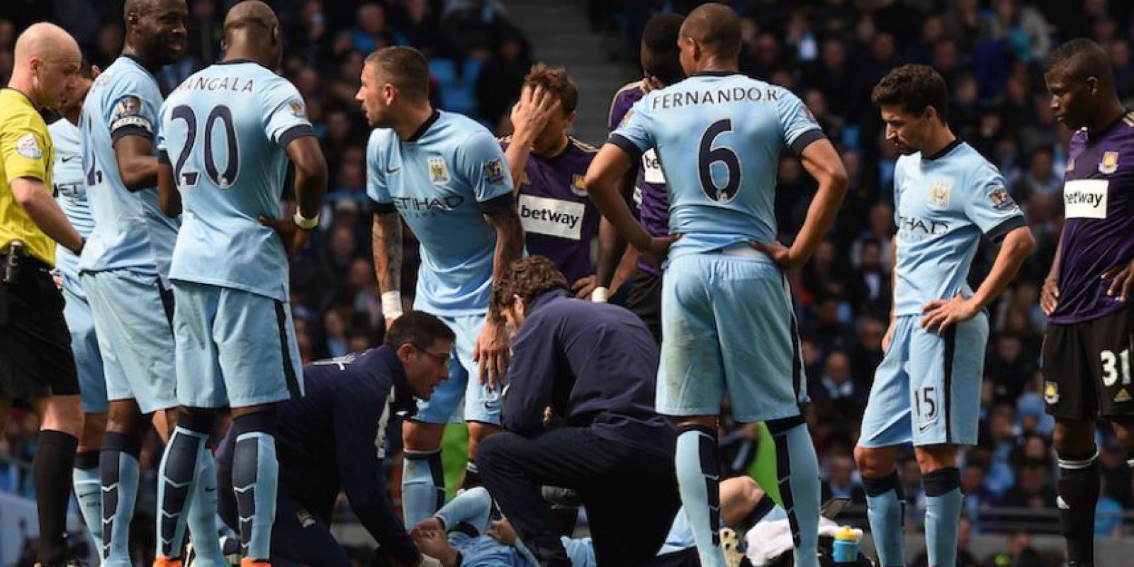 Silva no regresó al encuentro. Foto:AFP