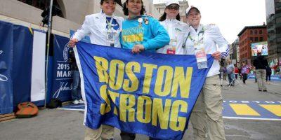Corredores compartían sus emociones por la carrera. Foto:Getty Images