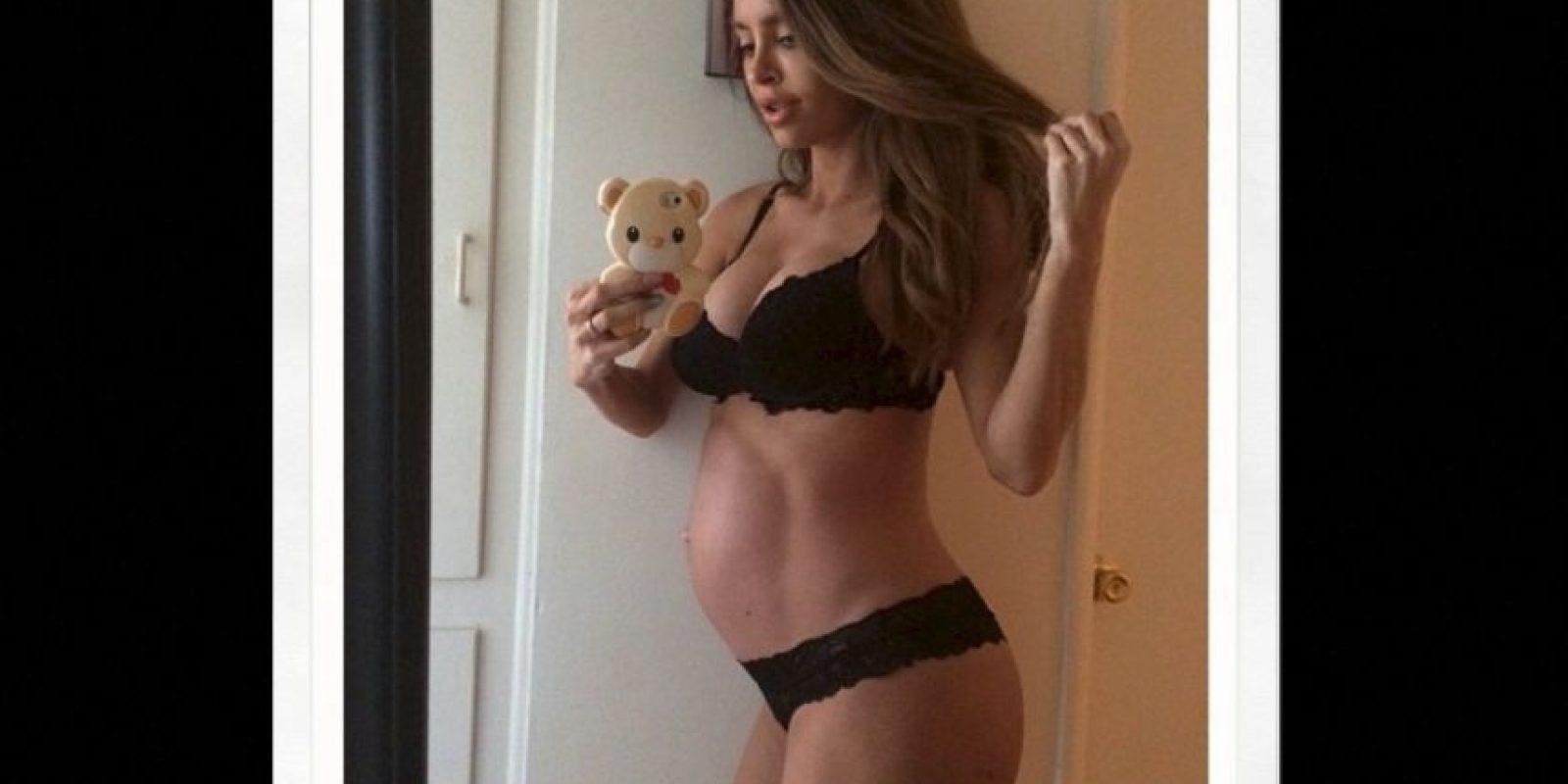 Un día antes del parto Foto:Vía Instagram.com/sarahstage