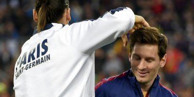 Lionel Messi y Zlatan Ibrahimovic se reencontraron en el partido entre el PSG y el Barcelona. Foto:AFP