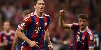 Robert Lewandowski hizo el tercero al 27′ Foto: Getty Images