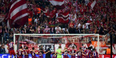 """Tras un 3-1 en la ida en contra, los """"Bávaros"""" terminaron imponiéndose en el marcador global por 7-4. Foto:Getty Images"""