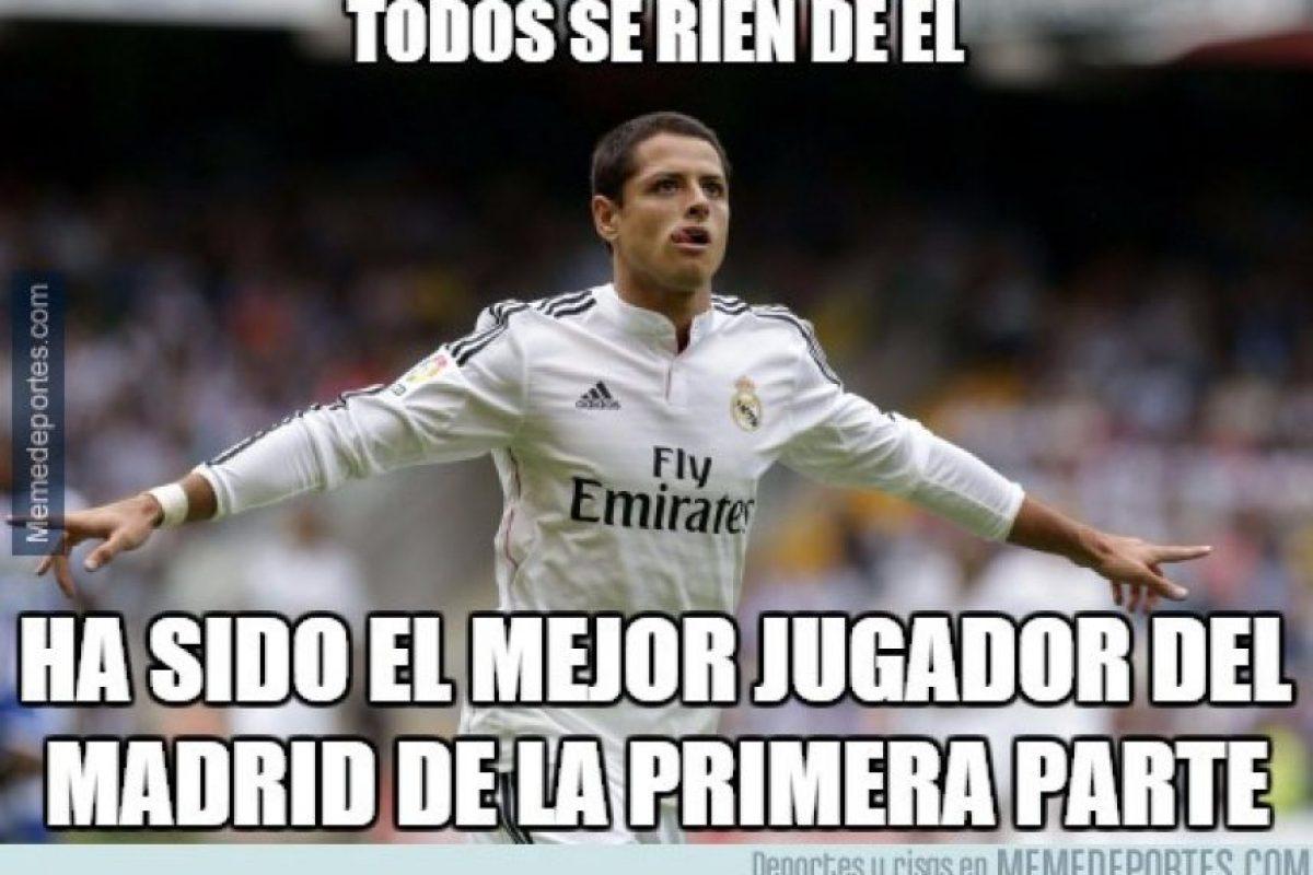 A pesar de las críticas, fue el mejor jugador del partido. Foto:memedeportes.com