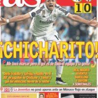"""El diario """"AS"""" también le dio la primera plana al meicano en la edición impresa. Foto:as.com"""