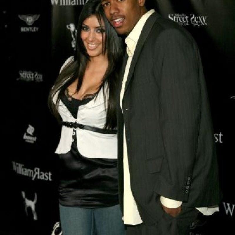 Kim Kardashian también fue novia de Nick Cannon. Salieron por unos meses en 2006. Foto:vía Getty Images