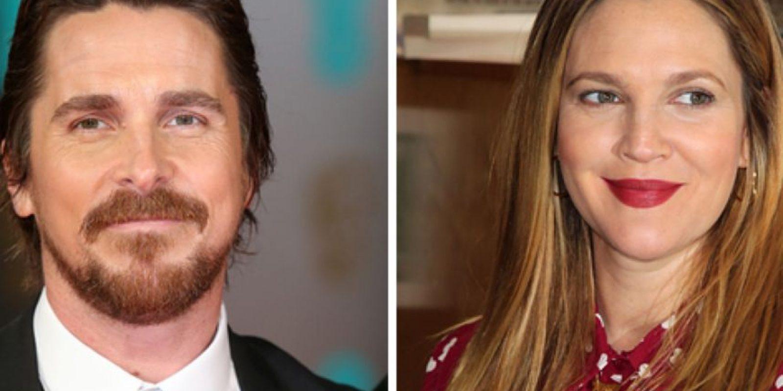 Drew Barrymore salió solo una vez con Christian Bale. Fueron a ver una película de horror y ella nunca lo llamó de nuevo. Foto:vía Getty Images
