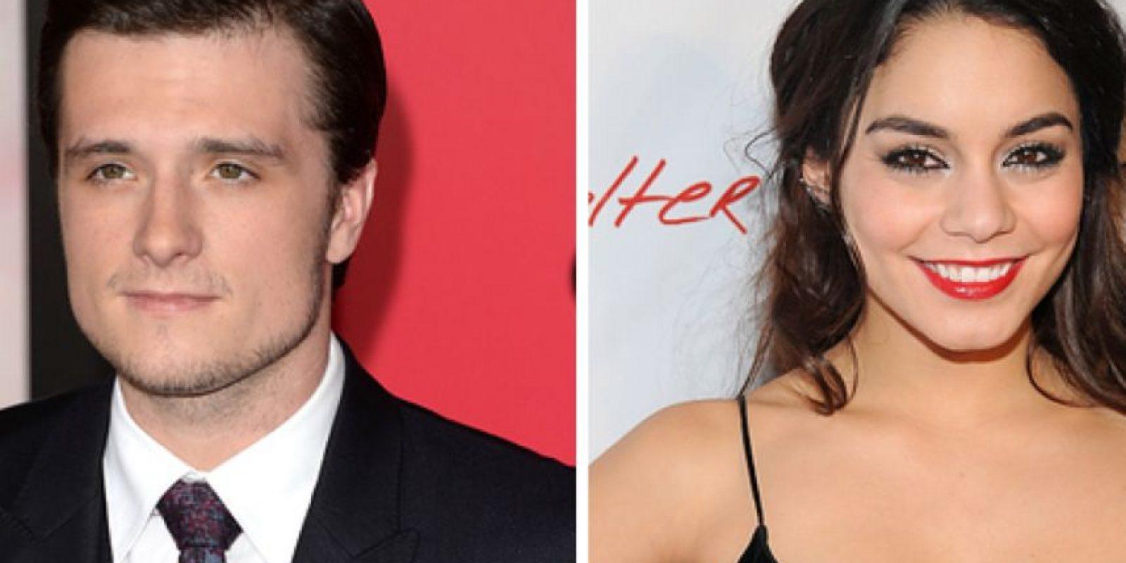 """Josh Hutcherson y Vanessa Hudgens salieron en el tiempo de promoción de la segunda parte de """"La Isla Misteriosa"""". Fue muy breve. Foto:vía Getty Images"""