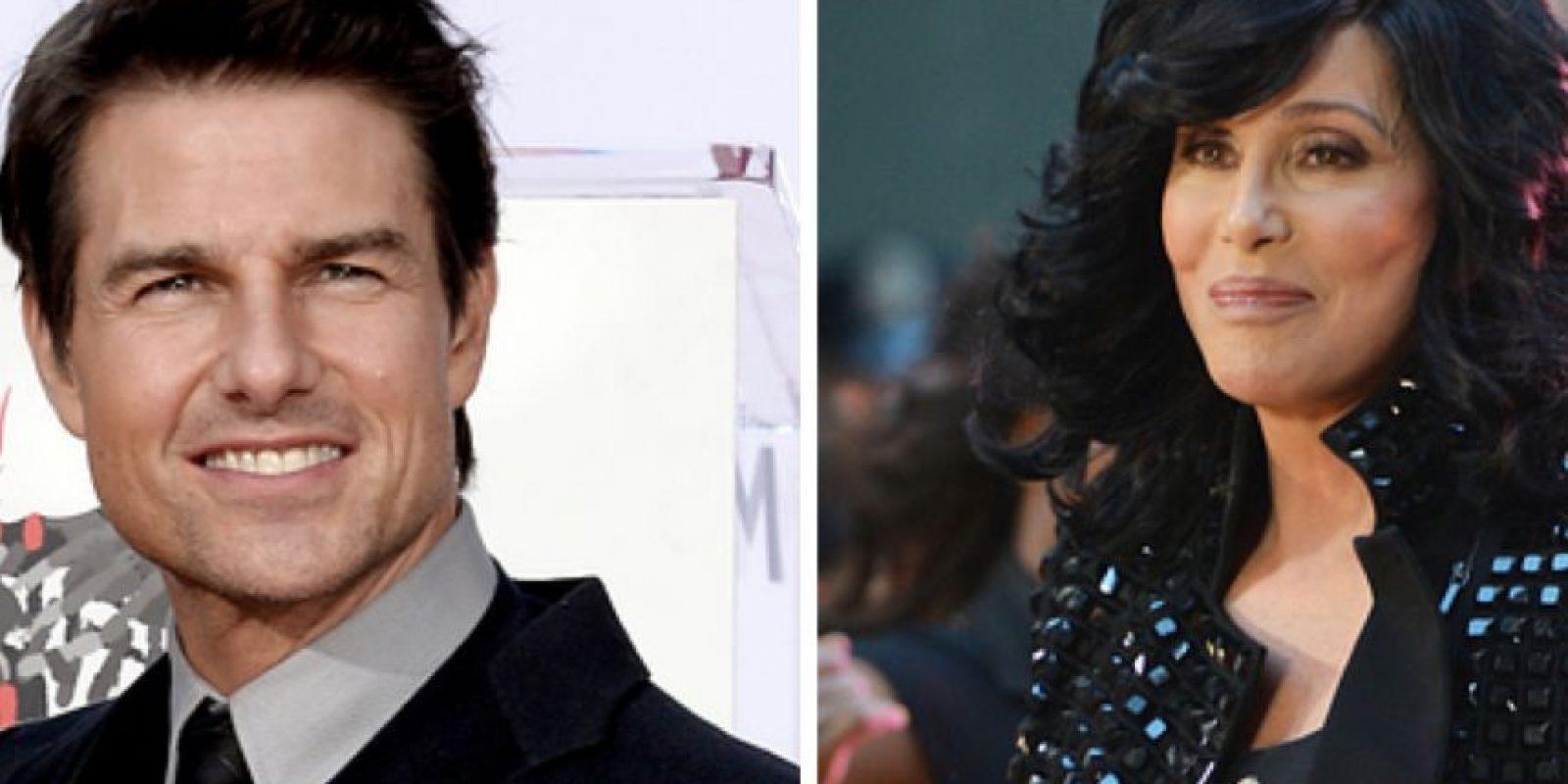 """Cher salió con Tom Cruise en 1987. Lo describió como """"tímido"""". Ella afirma que estaba loca por él. Foto:vía Getty Images"""