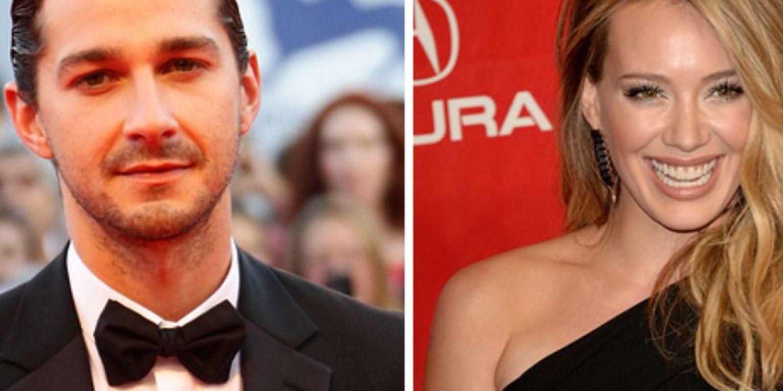 """Shia Labeouf salió con Hilary Duff, pero solo fue una cita que él calificó de """"desastre"""". Foto:vía Getty Images"""