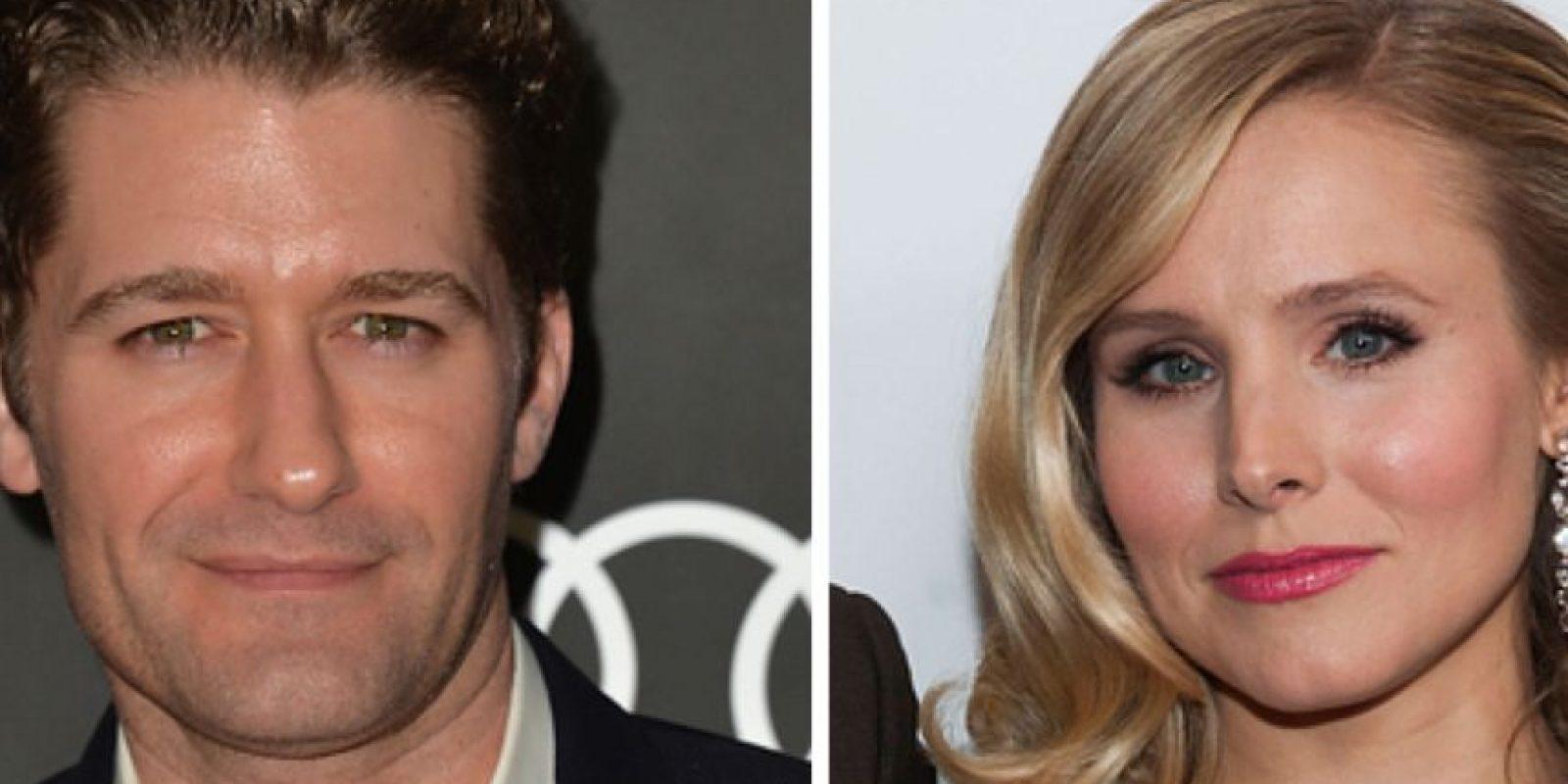 """Matthew Morrison, de """"Glee"""" y Kristen Bell salieron cuando estaban en la universidad."""