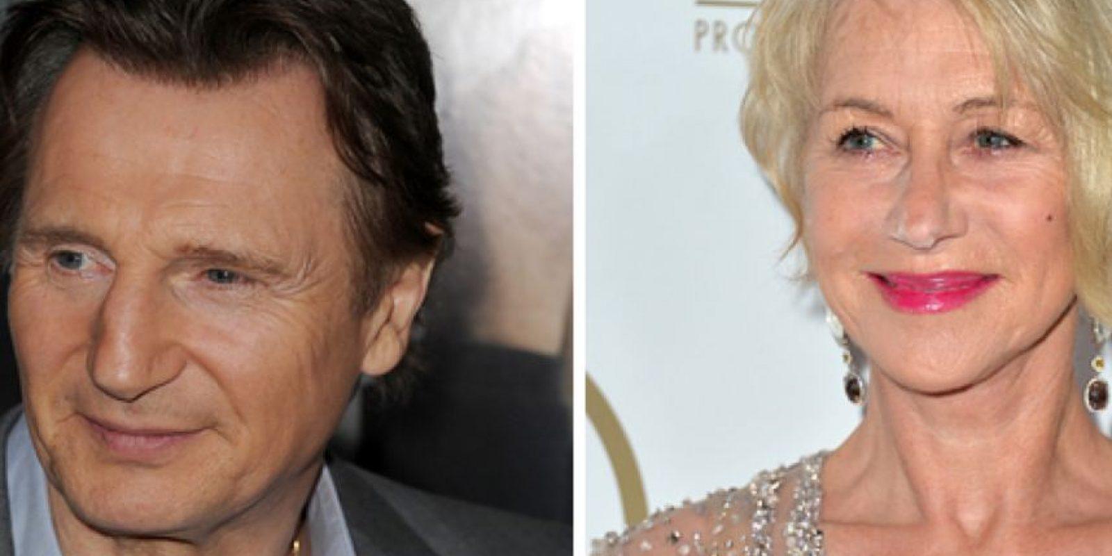 Liam Neeson fue novio de Helen Mirren de 1980 a 1984. Foto:vía Getty Images