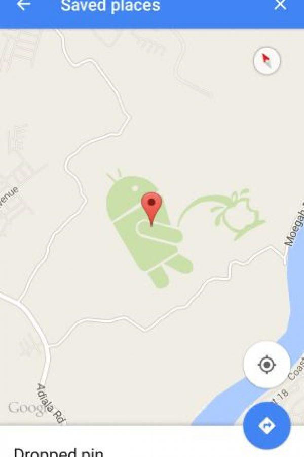 Así se ve el dibujo para la versión móvil de Google Maps Foto:Google Maps