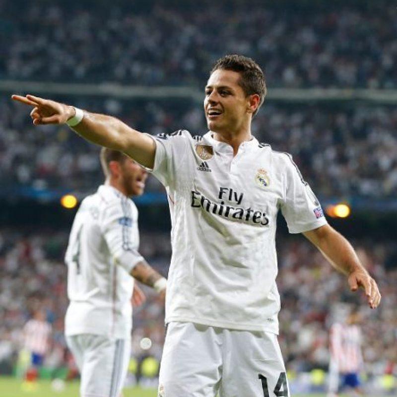 """El """"Chicharito"""", quien arrancó de titular gracias a la lesión de Karim Benzema, fue el héroe del partido ante Atlético de Madrid tras marcar el gol de la victoria. Foto:Getty Images"""