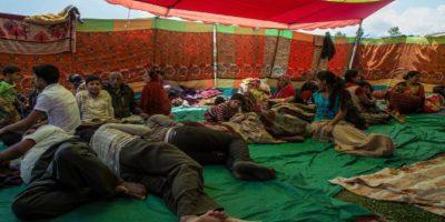 Así lucen los campamentos en los que la población ha ido encontrando refugio. Foto:Getty Images