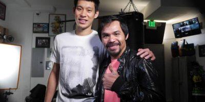 Ambos comparten las creencias cristianas, por ello, el basquetbolista va por Pacquiao, y también estuvo presente en Los Ángeles para mostrarle su apoyo. Foto:Vía facebook.com/TopRankMannyPacquiao