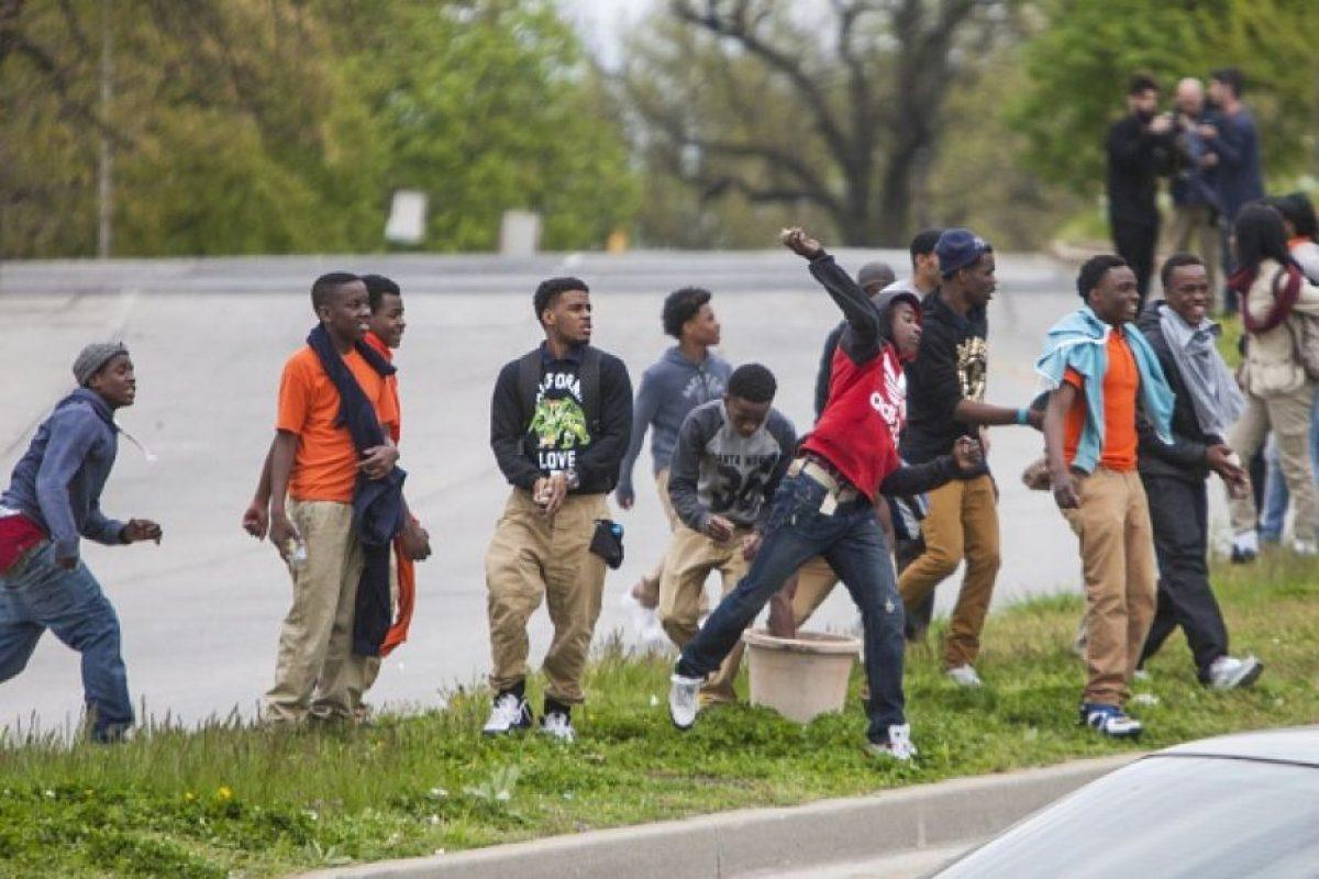 """""""Hay una gran diferencia entre protestar y generar violencia"""", declaró Larry Hogan. Foto:Getty Images"""