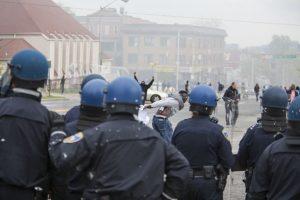 """El gobernador del Estado de Maryland, Larry Hogan, declaró a la ciudad de Baltimore en """"Estado de Emergencia"""" y activó la Guardia Nacional tras los disturbios de este lunes. Foto:Getty Images"""