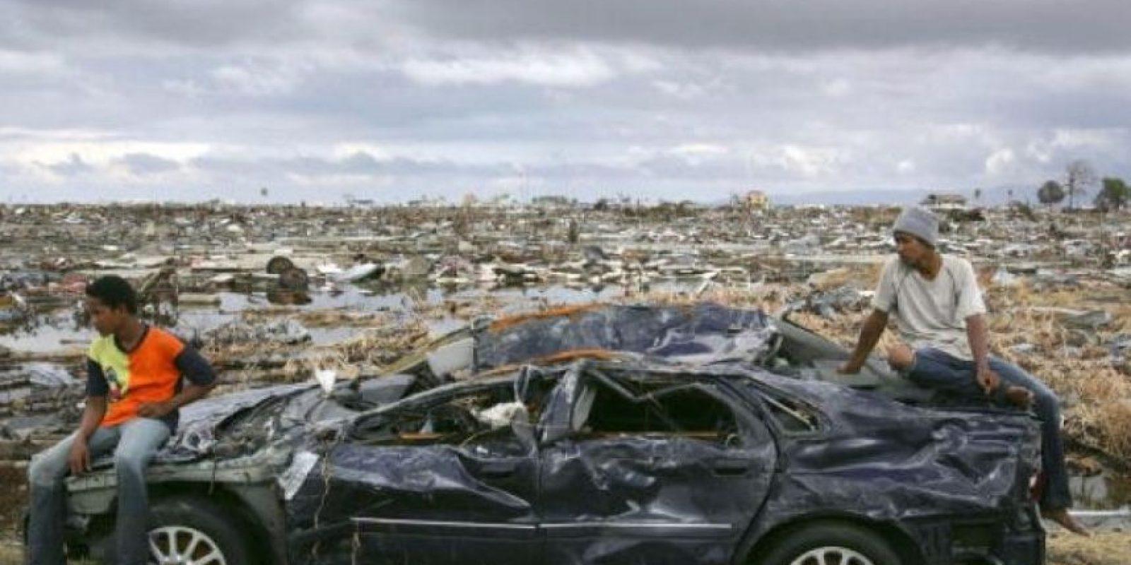 5. 26 de diciembre de 2004, Isla de Sumatra, Indonesia: El tsunami más letal de la historia con una magnitud de 9.1 Foto:Getty Images