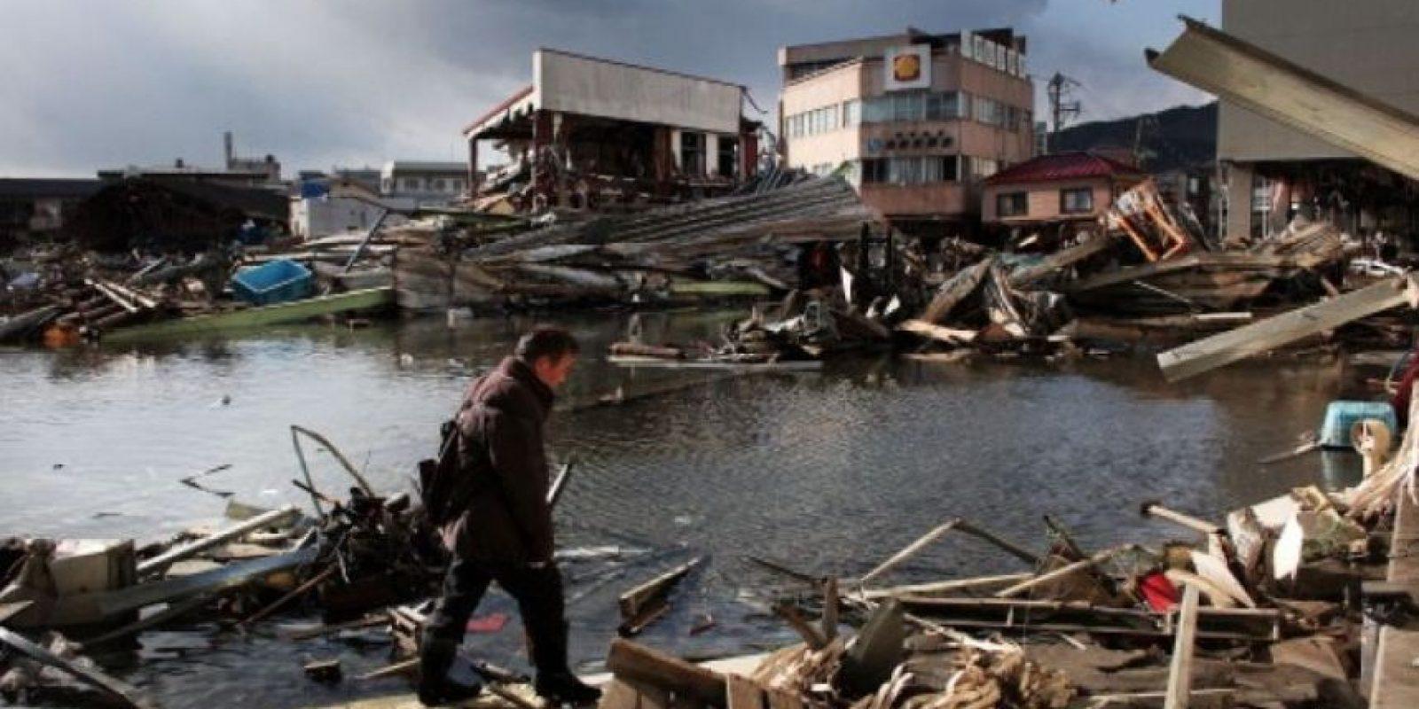 9. 11 de marzo de 2011, Japón: El tsunami causó la fusión de tres reactores de la planta nuclear de Fukushima. Foto:Getty Images
