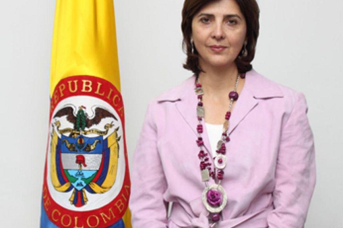 Ministra de relaciones exteriores, María Ángela Holguín