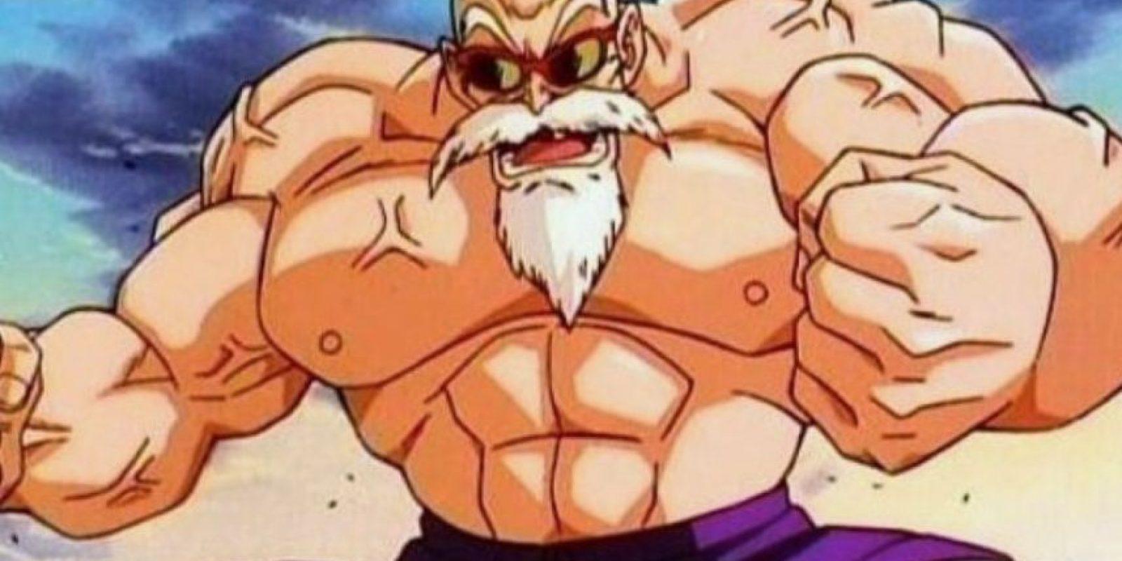 El maestro Roshi al comienzo de Dragon Ball Z tiene 354 años Foto:Toei