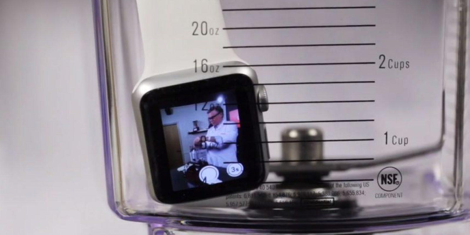 Apple Watch antes de que se pusiera en funcionamiento la licuadora. Foto:Blendtec